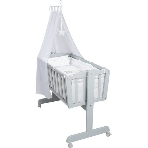 Roba® Komplettwiege, Sternenzauber, taupe lackiert
