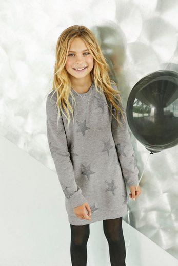 Arizona Sweatkleid mit Glitzerdruck