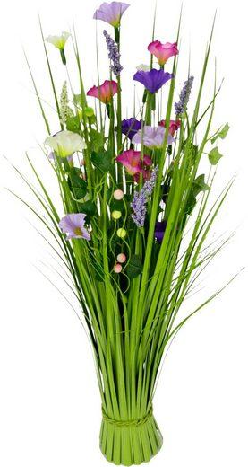 Kunstgras, Grasbund mit Blüten