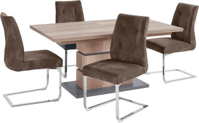 Essgruppen - Homexperts Essgruppe »Bonnie«, Breite 140 cm mit Auszug und 4 Stühlen  - Onlineshop OTTO
