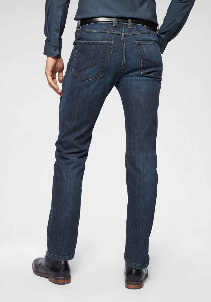 bugatti 5-Pocket-Jeans Gürtelschlaufenbund mit Zip-fly