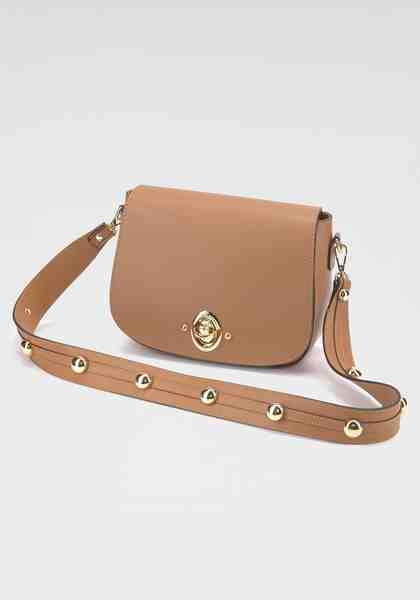 GUIDO MARIA KRETSCHMER Handtasche, Aus hochwertigem Leder mit zwei dekorativen Trageriemen
