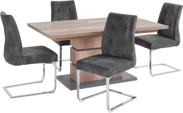 Essgruppen - Homexperts Essgruppe »Bonnie«, Breite 140 cm mit 4 Stühlen  - Onlineshop OTTO