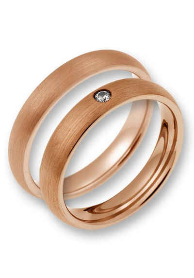 CORE by Schumann Design Trauring »TW020.17/19104886, TW020.16/19104884«, wahlweise mit oder ohne Zirkonia, Made in Germany