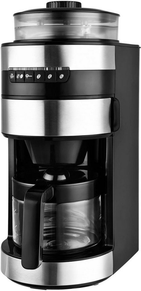 team kalorik kaffeemaschine mit mahlwerk tkg ccg 1006 0 75l kaffeekanne permanentfilter online