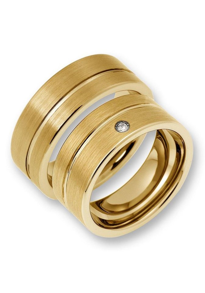 CORE by Schumann Design Partnerring »TW024.07/19104771, TW024.06/19104742« wahlweise mit oder ohne Zirkonia, Made in Germany | Schmuck > Ringe > Partnerringe | Goldfarben | CORE by Schumann Design