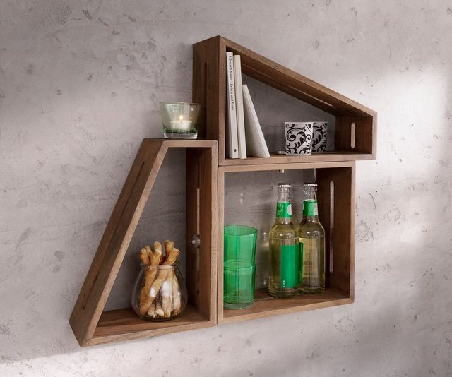 Küchenregale - DELIFE Design Wandregal Wyatt 70x55 cm 3er Set  - Onlineshop OTTO