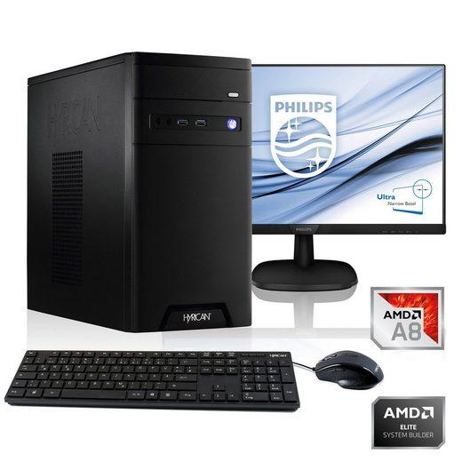 Hyrican PC A8-9600, AMD Radeon R7 on APU, 16GB RAM + 61 cm (24) TFT »CyberGamer SET1863«