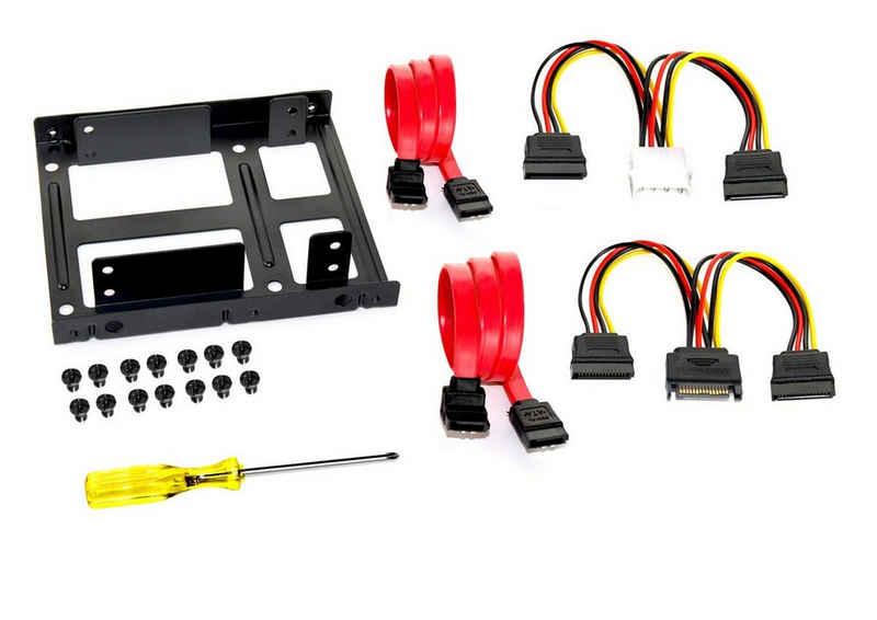 FANTEC Einbaurahmen für 2x 2,5 Zoll HDD/SSD »Einbaurahmen«