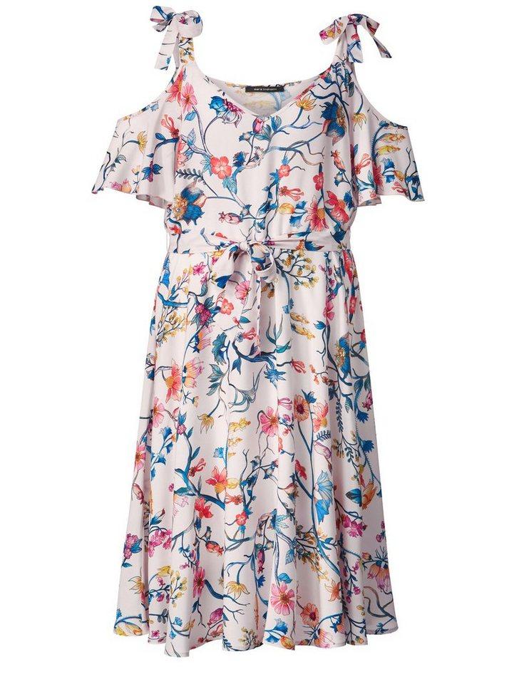 e616dc19afd504 Sara Lindholm by Happy Size Kleid mit Cut-Outs und Blumen-Print ...