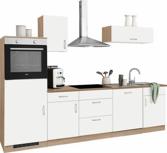 wiho Küchen Küchenzeile »Brilon«, mit E-Geräten, Breite 280 cm