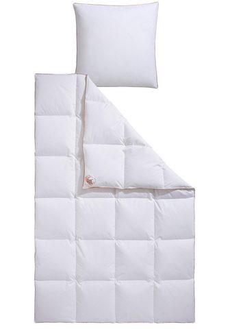 RIBECO Pūkinė antklodė + pagalvė »Ella« warm