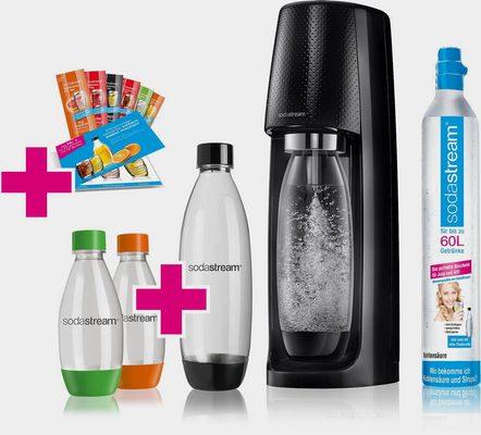 Wassersprudler »Easy«, (Set, 11-tlg., 1 Wassersprudler, 1 CO2-Zylinder, 1 PET-Flasche (1 L), 2 PET-Flaschen (0,5 L), 6 Sirupproben)