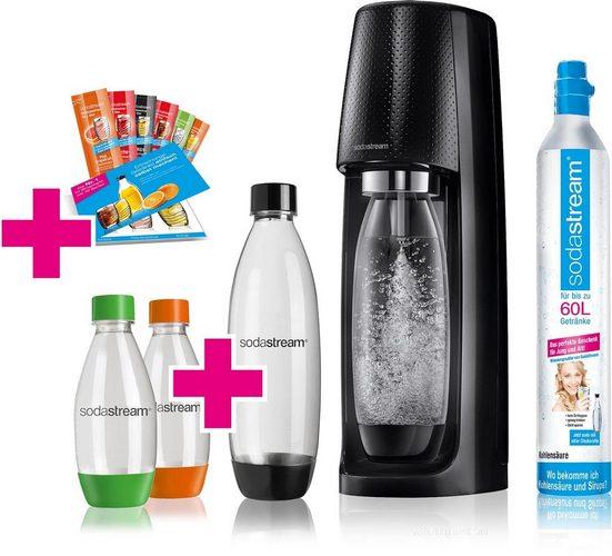 SodaStream Wassersprudler »Easy«, (Set, 11-tlg., 1 Wassersprudler, 1 CO2-Zylinder, 1 PET-Flasche (1 L), 2 PET-Flaschen (0,5 L), 6 Sirupproben)