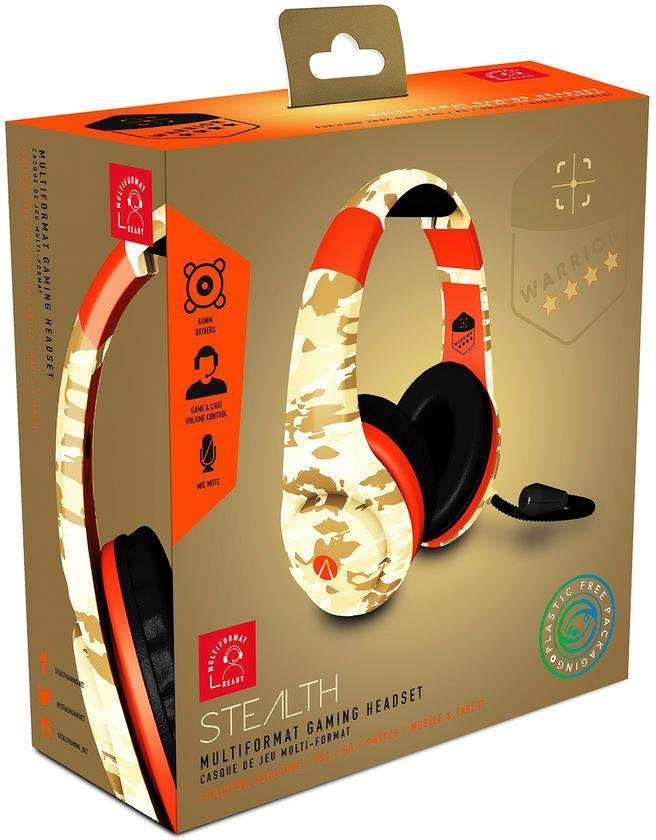 STEALTH Multi Format Stereo Headset Warrior Camo Gaming Camouflage Camouflage  PS4 Headsets