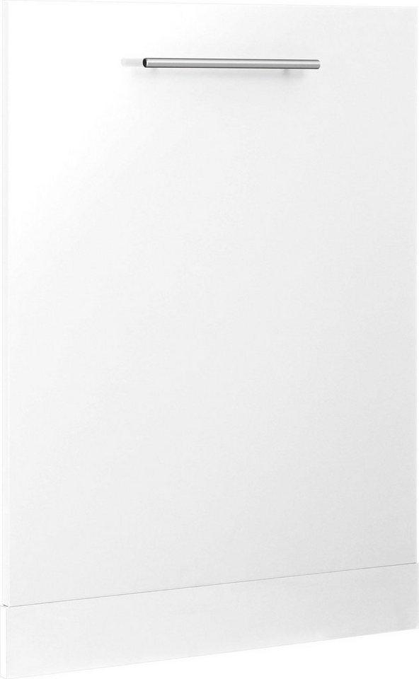 Como An Frontblende 60 cm breit für teilintegrierten Geschirrspüler Creme Weiß