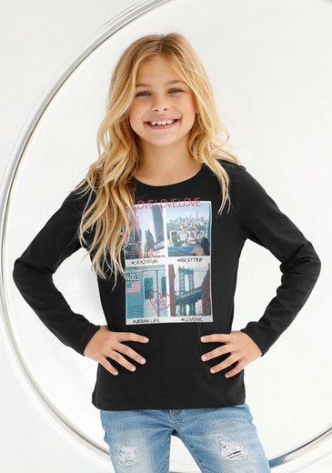 Buffalo Langarmshirt mit Fotodruck