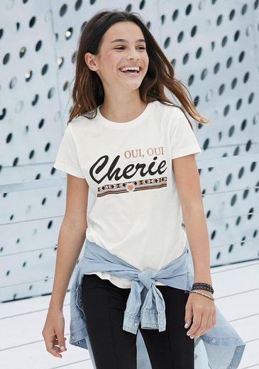Arizona T-Shirt »Cherie« mit Glitzerdruck