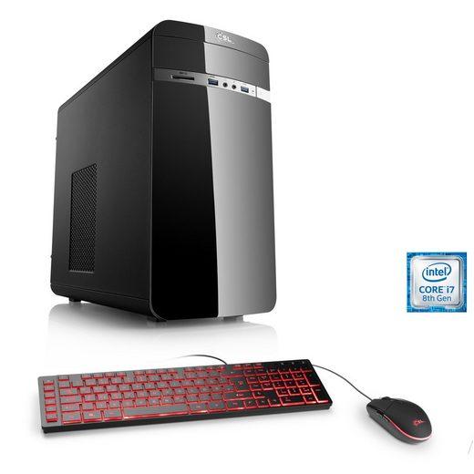 CSL Multimedia PC, Core i7-8700, Intel HD 630, 16 GB DDR4, SSD »Speed T7512 Windows 10«