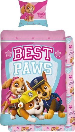 Jugendbettwäsche »Best Paws«, PAW PATROL, mit Hunden