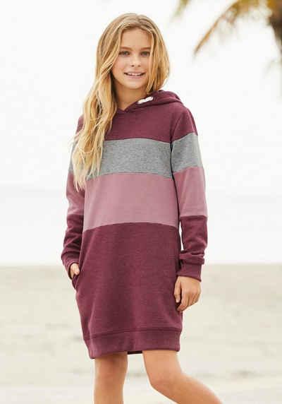 Arizona Sweatkleid mit Kapuze und Colorblocking