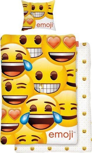 Wendebettwäsche »Faces«, mit Emojis