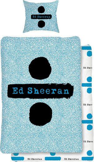 Jugendbettwäsche »Logo«, mit Ed Sheeran Schriftzug
