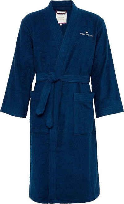 Unisex-Bademantel »Kimono«, TOM TAILOR, mit Logostickerei