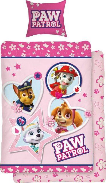 Jugendbettwäsche »Girly Paws«, PAW PATROL | Kinderzimmer > Textilien für Kinder > Kinderbettwäsche | Baumwolle | Paw Patrol