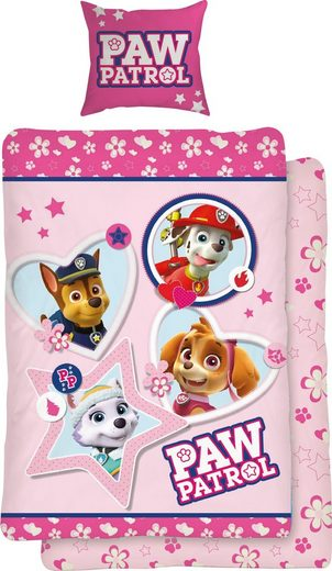 Jugendbettwäsche »Girly Paws«, PAW PATROL