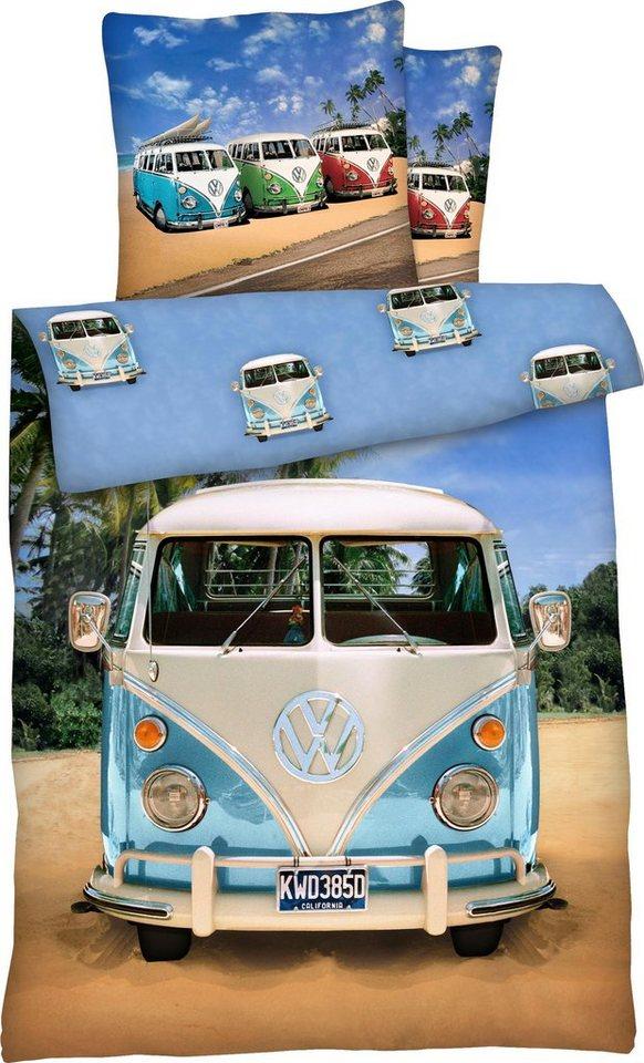 Kinderbettwäsche »T 1«, Volkswagen, mit Autos   Kinderzimmer > Textilien für Kinder > Kinderbettwäsche   Blau   Volkswagen