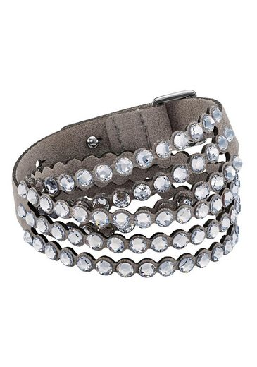 Swarovski Lederarmband »POWER COLLECTION SLAKE, 5511698«, mit Swarovski® Kristallen