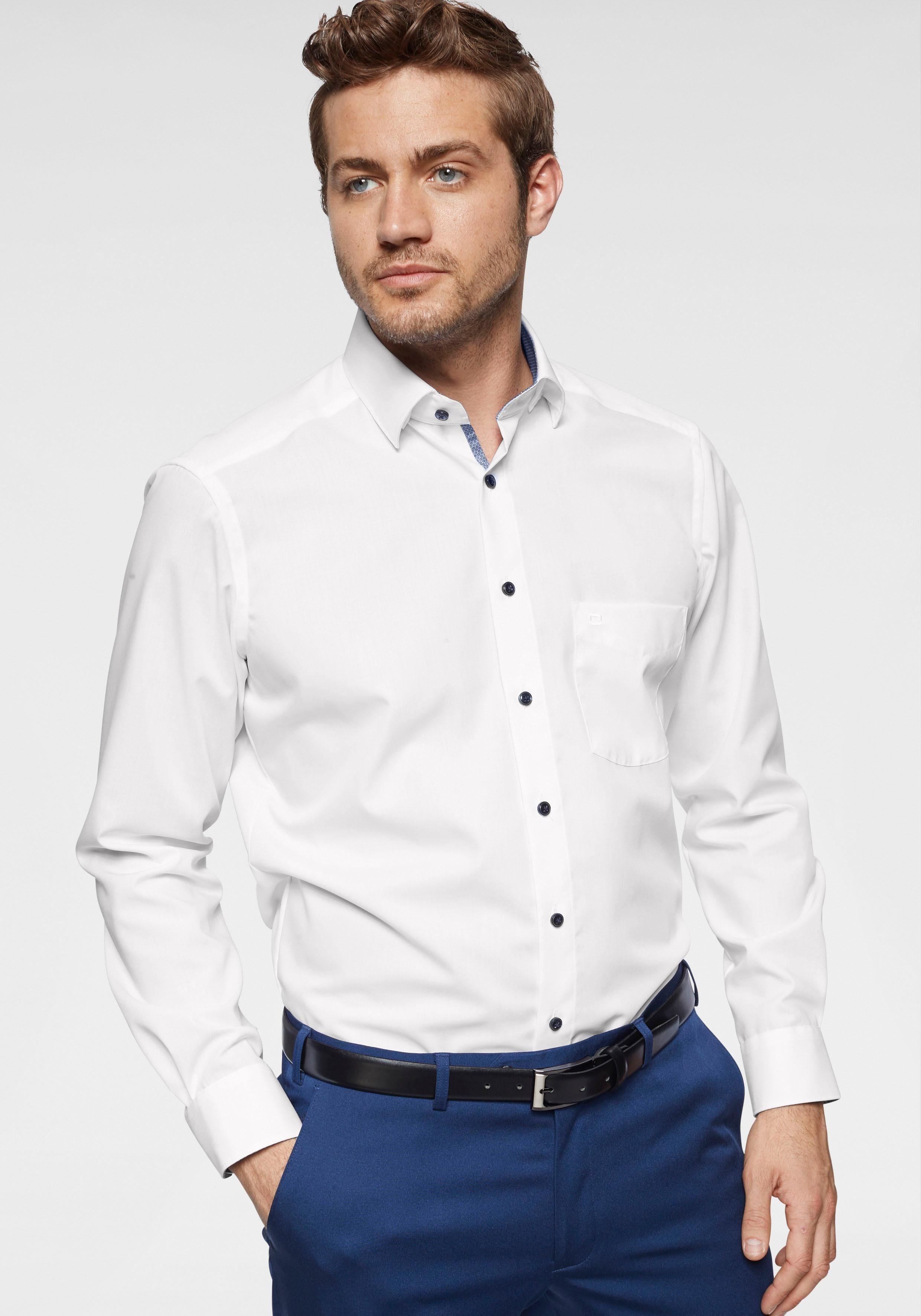 Businesshemd Modern Olymp Fit« Lange »luxor Online Kaufen Kontrastbesätze Extra ÄrmelVerdeckte L4j5AR