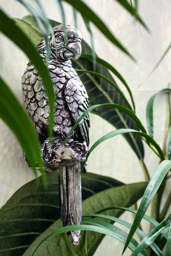 Lene Bjerre Tierfigur »Serafina Papagei«, antique silver