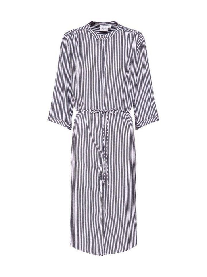 Saint Tropez Ballonkleid »WOVEN DRESS BELOW KNEE« | Bekleidung > Kleider > Ballonkleider | Gelb | Saint Tropez