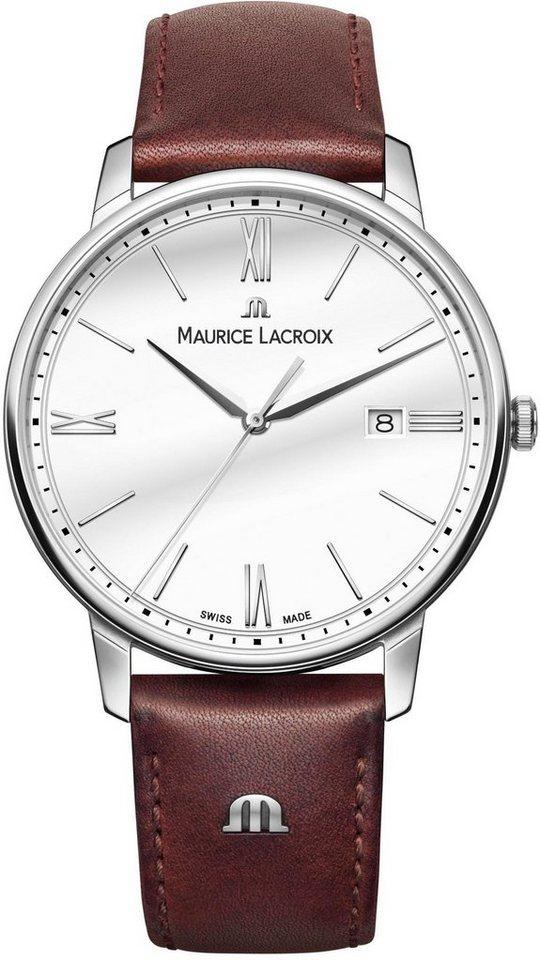 MAURICE LACROIX Schweizer Uhr »Eliros, EL1118-SS001-113-1« | Uhren > Schweizer Uhren | Braun | MAURICE LACROIX