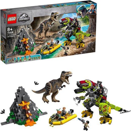 LEGO® Konstruktionsspielsteine »T. rex vs. Dino-Mech (75938), LEGO® Jurassic World™«, (716 St)