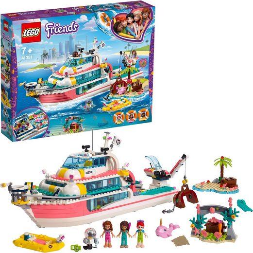 LEGO® Konstruktionsspielsteine »Boot für Rettungsaktionen (41381), LEGO® Friends«, (908 St)