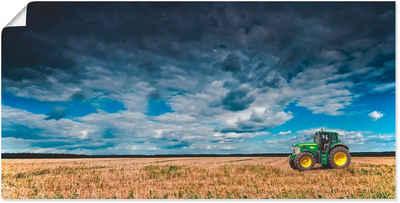 Artland Wandbild »Traktor Landschaftsfotografie«, Traktoren (1 Stück), in vielen Größen & Produktarten -Leinwandbild, Poster, Wandaufkleber / Wandtattoo auch für Badezimmer geeignet