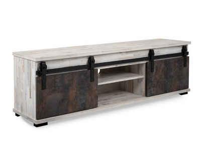 expendio TV-Board »Salvo 56A«, Aratinga Kiefer / Na Pali 160x50x40 cm mit Schiebetüren