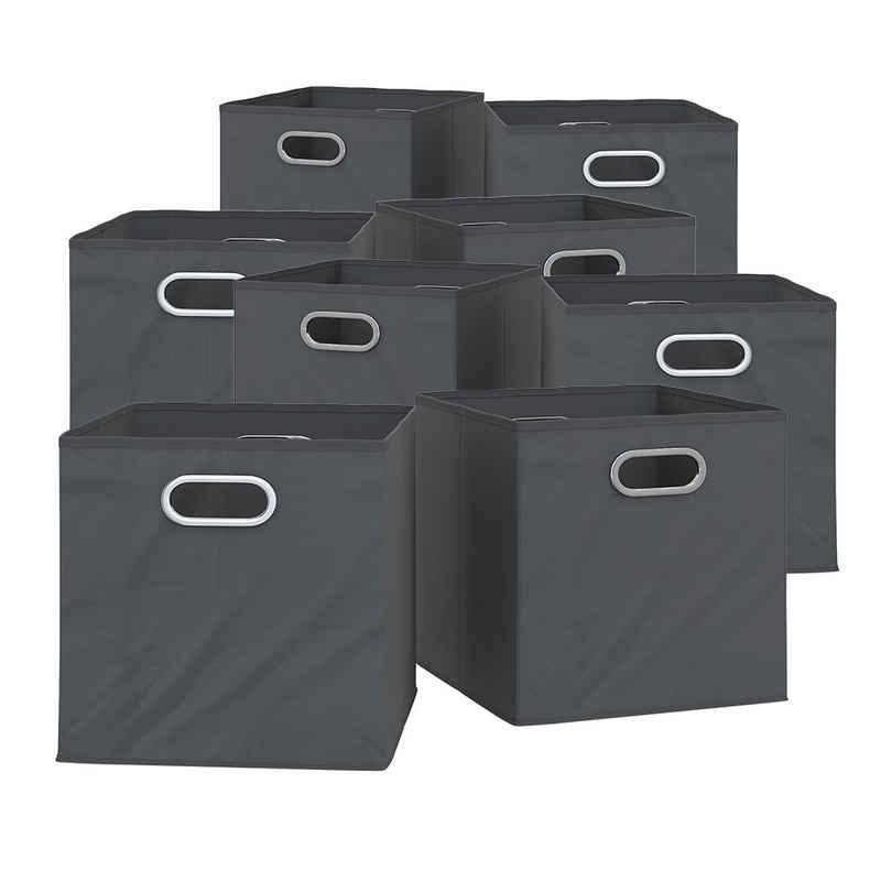 Vicco Faltbox »8er Set 30x30 cm anthrazit Faltkiste Aufbewahrungsbox Regalbox«