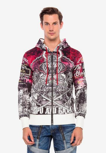 Cipo & Baxx Sweatjacke »Tiger Warrior« mit Allover Print