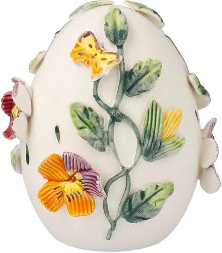 Goebel Osterei »Bunte Stiefmütterchen« (1 Stück), aus Porzellan, Höhe ca. 8,5 cm
