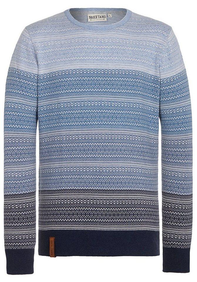 naketano Norwegerpullover | Bekleidung > Pullover > Norwegerpullover | Weiß | Baumwolle | naketano