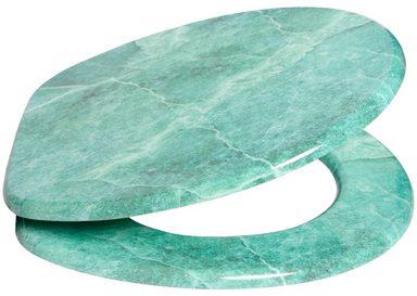 SANILO WC-Sitz »Marmor Grün«, mit Absenkautomatik