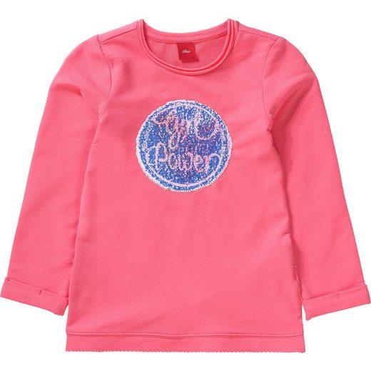 s.Oliver Sweatshirt mit Wendepailletten für Mädchen