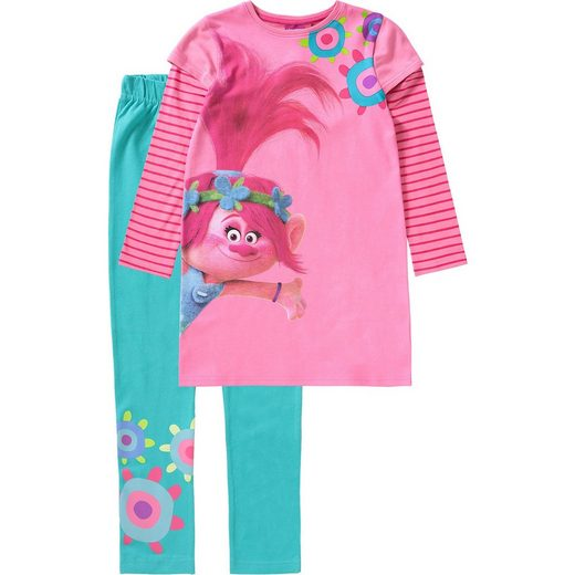 Trolls Set Jerseykleid + Leggings für Mädchen