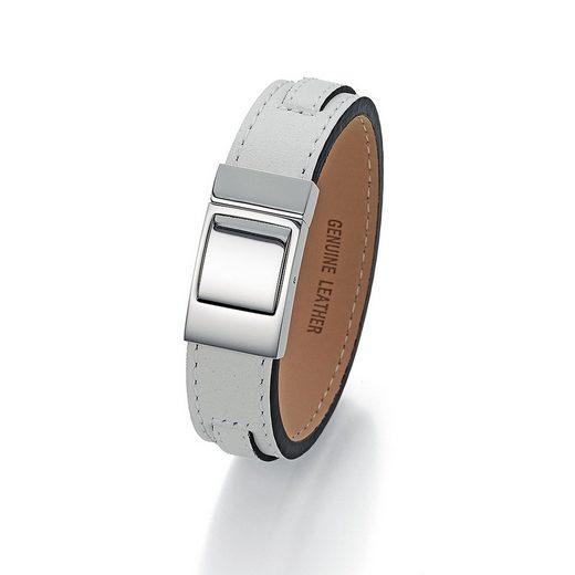 Jacques Charrel Armband »Leder weiß«