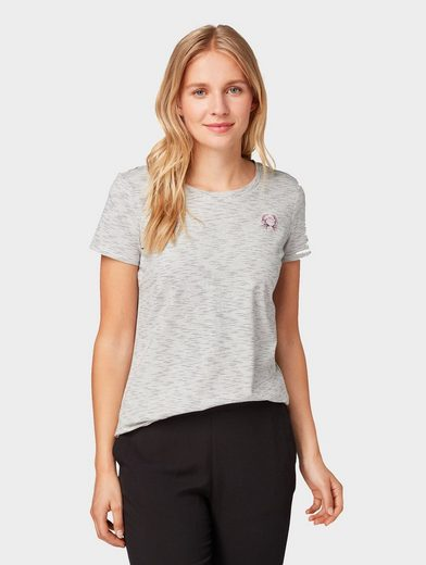 TOM TAILOR T-Shirt »T-Shirt mit Krebs-Print«