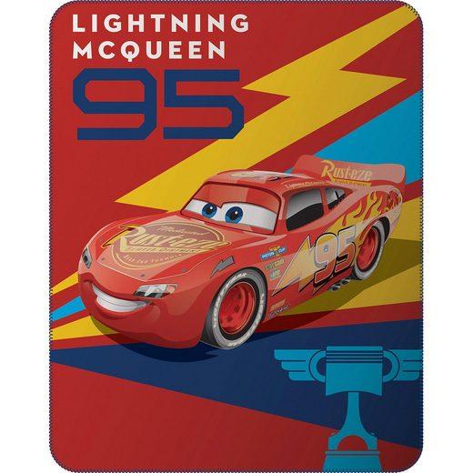 CTI Kuscheldecke Disney Cars Generation, Lightning McQueen, rot